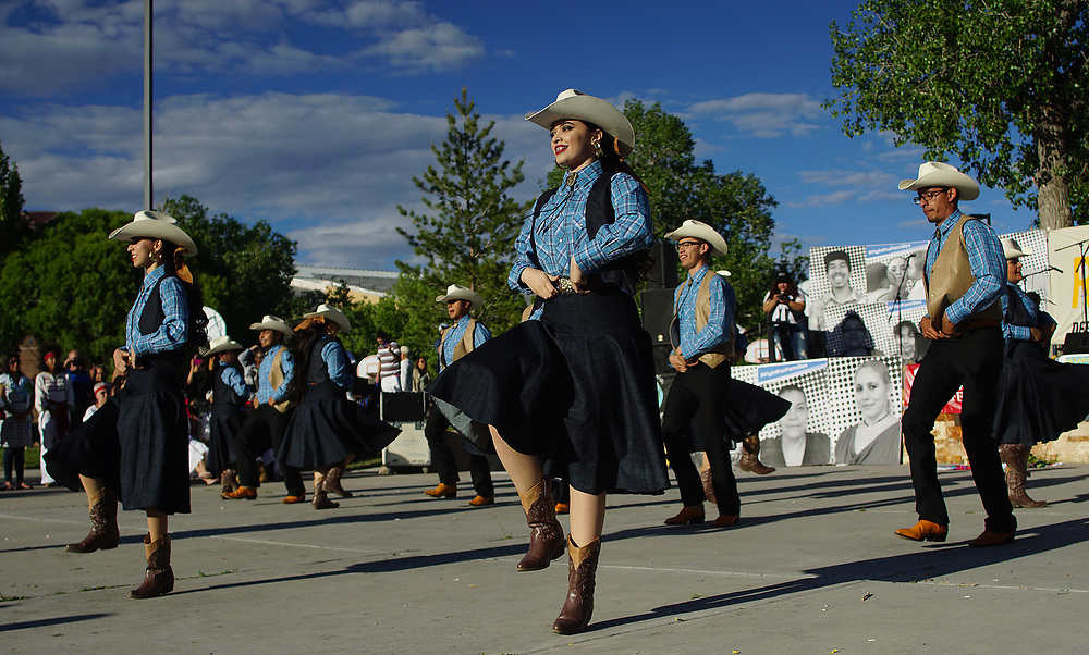 apl050117g/ASECTION/pierre-louis/JOURNAL 050117<br /> TMembers of Desoluna perform  during the May Day Rise Up ABQ rally held at Tiguex Park.Photographed on Monday May 1 2017. .Adolphe Pierre-Louis/JOURNAL