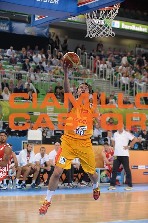 DESCRIZIONE : Lubiana Ljubliana Slovenia Eurobasket Men 2013 Finale Terzo Quarto Posto Spagna Croazia Final for 3rd to 4th place Spain Croatia<br /> GIOCATORE : Sergio Llull<br /> CATEGORIA : tiro shot<br /> SQUADRA : Spagna Spain<br /> EVENTO : Eurobasket Men 2013<br /> GARA : Spagna Croazia Spain Croatia<br /> DATA : 22/09/2013 <br /> SPORT : Pallacanestro <br /> AUTORE : Agenzia Ciamillo-Castoria/M.Ceretti<br /> Galleria : Eurobasket Men 2013<br /> Fotonotizia : Lubiana Ljubliana Slovenia Eurobasket Men 2013 Finale Terzo Quarto Posto Spagna Croazia Final for 3rd to 4th place Spain Croatia<br /> Predefinita :