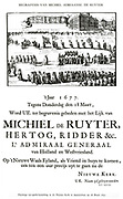On 18th March 1677 Michiel Adriaansz de Ruyter was given an elaborate state funeral when his body was buried in the New Church in Amsterdam.