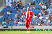 Daniel Carriço of Sevilla during the Pre-Season Friendly match between Brighton and Hove Albion and Sevilla at the American Express Community Stadium, Brighton and Hove, England on 2 August 2015. Photo by Phil Duncan.