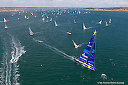 ENGLAND, Cowes, 11th August  2013. Rolex Fastnet Race. Esimit Europa 2.