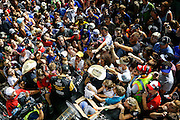 10-11 June, 2016, Fort Worth, Texas USA<br /> James Hinchcliffe signs autographs while track drys<br /> &copy;2016, Sam Cobb<br /> LAT Photo USA