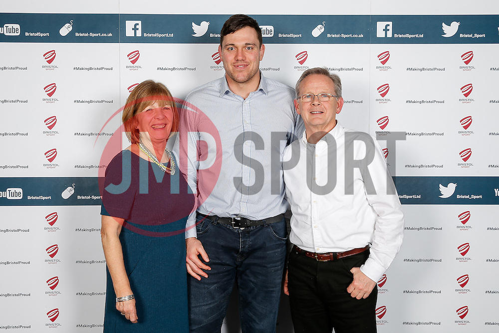 Glen Townson of Bristol Rugby poses during the Player Sponsors' Dinner in the Heineken Lounge at Ashton Gate - Mandatory byline: Rogan Thomson/JMP - 08/02/2016 - RUGBY UNION - Ashton Gate Stadium - Bristol, England - Bristol Rugby Player Sponsors' Dinner.