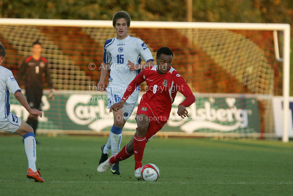 Wales Under 17 v Bosnia-Herzegovina at Stebonheath Park, Llanelli  on Wed 30th Sept 2009. pic by Andrew Orchard, Andrew Orchard sports photography, .. these pictures are available to purchase on-line as personal use downloads. to purchase click add to cart, payment is made by paypal and your image will be available for download within minutes. once you download the file you may get that printed yourself (at your expense) The file will print up to atleast 12x8 inches.