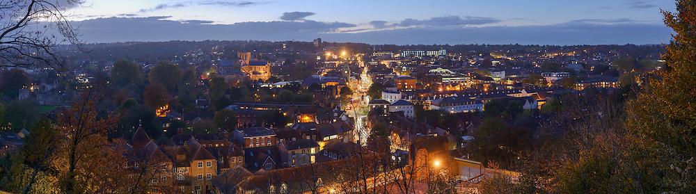 Winchester panoramic city skyline