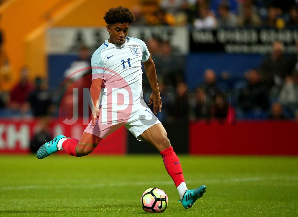 Reiss Nelson of England scores a goal to make it 2-1 - Mandatory by-line: Robbie Stephenson/JMP - 05/09/2017 - FOOTBALL - One Call Stadium - Mansfield, United Kingdom - England U19 v Germany U19 - International Friendly