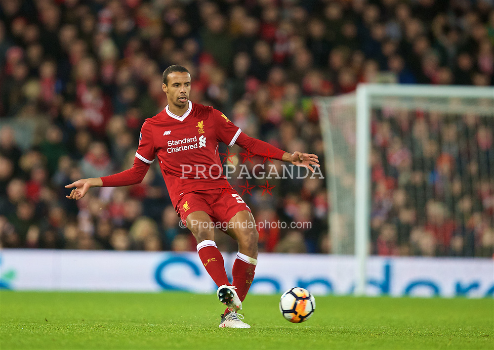 LIVERPOOL, ENGLAND - Sunday, January 14, 2018: Liverpool's Joel Matip during the FA Premier League match between Liverpool and Manchester City at Anfield. (Pic by David Rawcliffe/Propaganda)