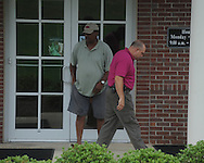 Oxford police respond to a robbery of the Mississippi Federal Credit Union on West Jackson Avenue in Oxford, Miss. on Wednesday, June 30, 2010.