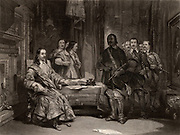 English Civil War. Charles I (1600-1649) King of Great Britain from 1625, a prisoner at Holdenby House, Northamptonshire, seized and taken to Newark, Nottinghamshire, in the name of the New Model Army. Engraving c1860.