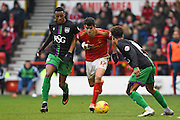 Nottingham Forest striker Nelson Oliveira   during the Sky Bet Championship match between Nottingham Forest and Bristol City at the City Ground, Nottingham, England on 27 February 2016. Photo by Jon Hobley.