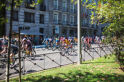 The peloton rolls on the sunshine on Stage 2 of the Madrid Challenge - a 100.3 km road race, starting and finishing in Madrid on September 16, 2018, in Spain. (Photo by Balint Hamvas/Velofocus.com)