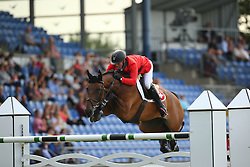 Estermann Paul, (SUI), Castlefield Eclipse<br /> Team Competition round 1 and Individual Competition round 1<br /> FEI European Championships - Aachen 2015<br /> © Hippo Foto - Stefan Lafrentz<br /> 19/08/15