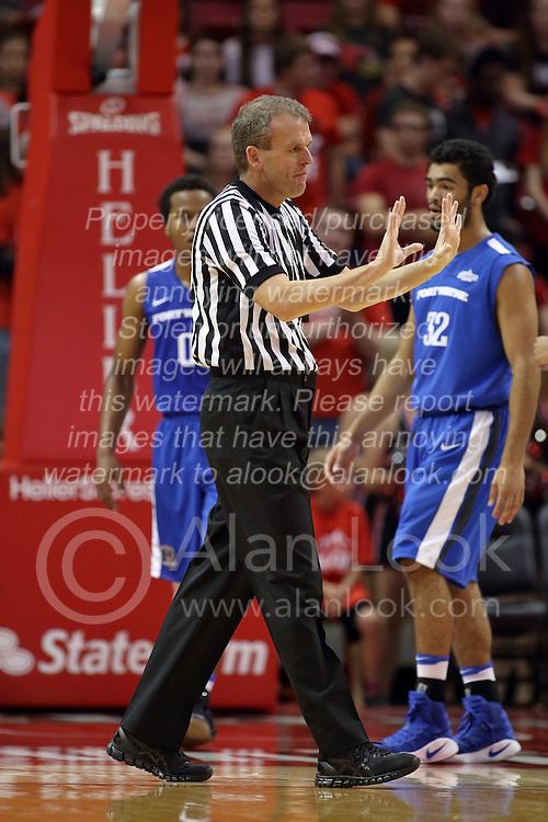 14 November 2016:  Randy Heimerman during an NCAA  mens basketball game between the Indiana Purdue Fort Wayne Mastodons the Illinois State Redbirds in Redbird Arena, Normal IL