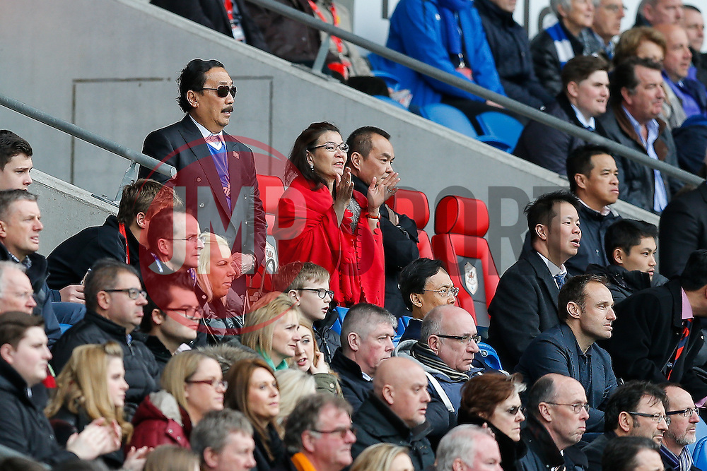 Cardiff City owner Vincent Tan looks on - Photo mandatory by-line: Rogan Thomson/JMP - 07966 386802 - 28/02/2015 - SPORT - FOOTBALL - Cardiff, Wales - Cardiff City Stadium - Cardiff City v Wolverhampton Wanderers - Sky Bet Championship.