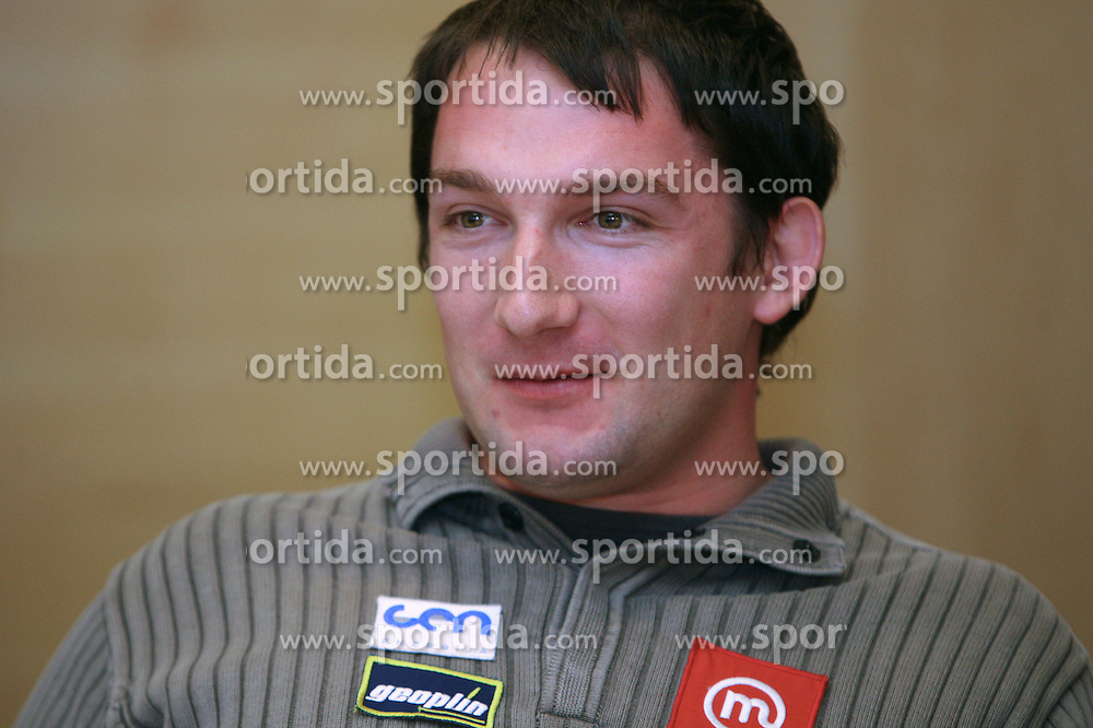 Primoz Kozmus when Athletic Federation of Slovenia (AZS) and top Slovenian athletes sign a contract of sponsorship, on February 14, 2008 in M-Hotel, Ljubljana, Slovenia. (Photo by Vid Ponikvar / Sportal Images)