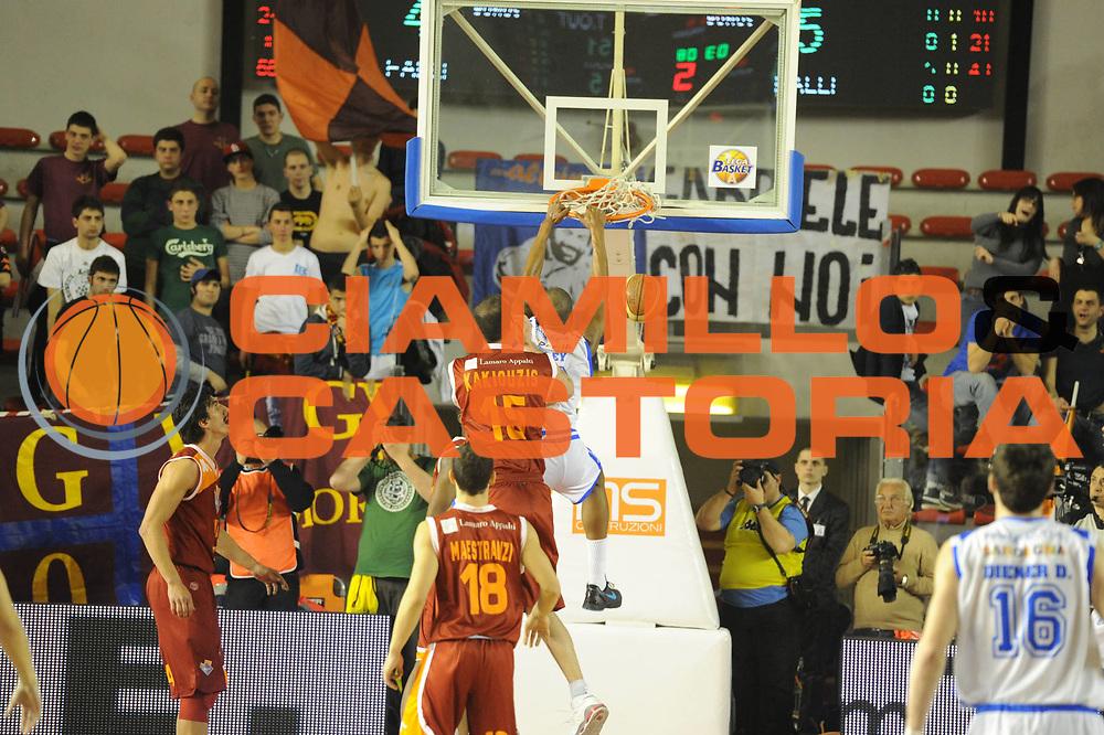 DESCRIZIONE : Roma Lega A 2011-12 Acea Roma Banco di Sardegna Sassari<br /> GIOCATORE : Easley Tony <br /> CATEGORIA : schiacciata<br /> SQUADRA : Banco di Sardegna Sassari<br /> EVENTO : Campionato Lega A 2011-2012<br /> GARA : Acea Roma Banco di Sardegna Sassari<br /> DATA : 07/03/2012<br /> SPORT : Pallacanestro<br /> AUTORE : Agenzia Ciamillo-Castoria/GiulioCiamillo<br /> Galleria : Lega Basket A 2011-2012<br /> Fotonotizia : Roma Lega A 2011-12 Acea Roma Banco di Sardegna Sassari<br /> Predefinita :
