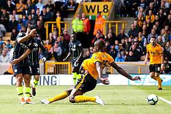 Sergio Aguero of Manchester City shoots at goal - Mandatory by-line: Robbie Stephenson/JMP - 25/08/2018 - FOOTBALL - Molineux - Wolverhampton, England - Wolverhampton Wanderers v Manchester City - Premier League