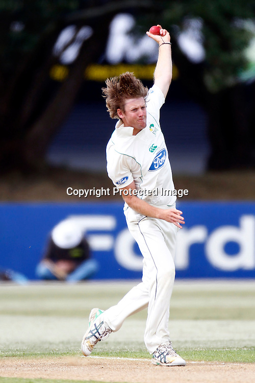 Central's Martin Kain during the plunket shield cricket match between the Auckland Aces and the Central Stags. Domestic 4 day cricket. Colin Maiden Park, Auckland. 30 November 2011. Photo: William Booth/photosport.co.nz