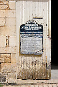 Premises of artisan Dinandier blacksmith Alain LaGorsse at St Amand de Coly, Dordogne, France