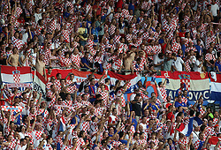 Fans of Croatia during the UEFA EURO 2008 Quarter-Final soccer match between Croatia and Turkey at Ernst-Happel Stadium, on June 20,2008, in Wien, Austria.  Won of Turkey after penalty shots. (Photo by Vid Ponikvar / Sportal Images)