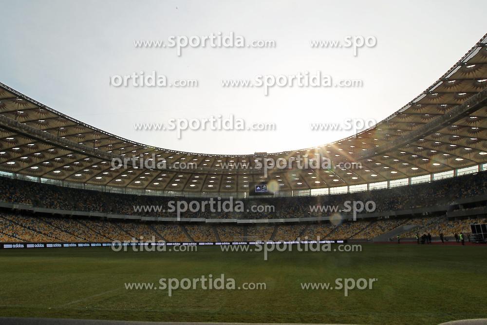 02.12.2012, Olymia Stadion, Kiev, UKR, Praesentation des neuen Adidasballes fuer die Euro 2012, im Bild STADION OLIMPIJSKI KIJOW (OLYMPIC STADIUM KYIEV) // during the presentation of the neuw Adidas ball for Euro 2012 at Olypic stadium in Kiev, UKR on 2011/12/02. EXPA Pictures © 2011, PhotoCredit: EXPA/ Newspix/ Lukasz Grochala..***** ATTENTION - for AUT, SLO, CRO, SRB, SUI and SWE only *****