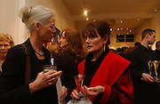 Penny Junor and PENNY TUCK HEADMISTRESS. The Cheltenham Ladies College Retrospective '06 to raise money for the Scholarship fund. . Cork St. London. 22 February 2006. ONE TIME USE ONLY - DO NOT ARCHIVE  © Copyright Photograph by Dafydd Jones 66 Stockwell Park Rd. London SW9 0DA Tel 020 7733 0108 www.dafjones.com