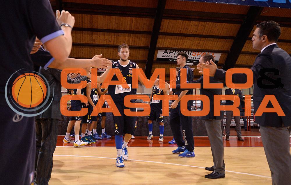 DESCRIZIONE : Ferentino LNP DNA Adecco Gold 2013-14 FMC Ferentino Manital Torino<br /> GIOCATORE : Stefano Mancinelli<br /> CATEGORIA : pregame<br /> SQUADRA : Manital Torino<br /> EVENTO : Campionato LNP DNA Adecco Gold 2013-14<br /> GARA : FMC Ferentino Manital Torino<br /> DATA : 06/10/2013<br /> SPORT : Pallacanestro<br /> AUTORE : Agenzia Ciamillo-Castoria/R.Morgano<br /> Galleria : LNP DNA Adecco Gold 2013-2014<br /> Fotonotizia : Ferentino LNP DNA Adecco Gold 2013-14 FMC Ferentino Manital Torino<br /> Predefinita :