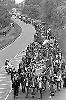 People's  March for Jobs, Yorkshire and Liverpool to London. Luton to Hemel Hempsted. 26/05/1981