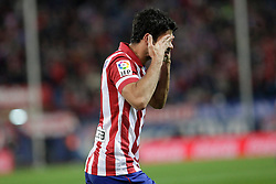27.10.2013, Estadio Vicente Calderon, Madrid, ESP, Primera Division, Atletico Madrid vs Real Betis, 10. Runde, im Bild Atletico de Madrid's Diego Costa celebrates, goal // Atletico de Madrid's Diego Costa celebrates, goal during the Spanish Primera Division 10th round match between Club Atletico de Madrid and Real Betis at the Estadio Vicente Calderon in Madrid, Spain on 2013/10/28. EXPA Pictures © 2013, PhotoCredit: EXPA/ Alterphotos/ Victor Blanco<br /> <br /> *****ATTENTION - OUT of ESP, SUI*****