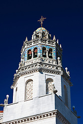 Detail of one of the two bell towers on top of Casa Grande, Hearst Castle, San Simeon, California, United States of America