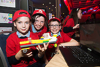 Rayleen Kenny, Aoife Kelly and Ethan Hynes from the Claddagh NS at the annual Junior FIRST Lego League run by Galway Education Centre, in the Radisson blu Hotel.  Photo:Andrew Downes<br />  Photo:Andrew Downes, XPOSURE