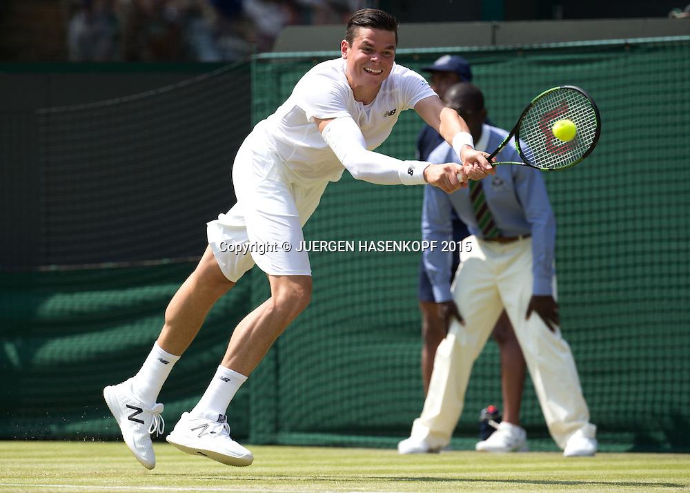 Milos Raonic (CAN)<br /> <br /> Tennis - Wimbledon 2015 - Grand Slam ITF / ATP / WTA -  AELTC - London -  - Great Britain  - 1 July 2015.