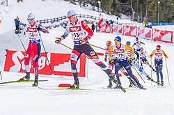 01.02.2020, Seefeld, AUT, FIS Weltcup Nordische Kombination, Langlauf, Gundersen 10 Km, im Bild v.l. Einar Luraas Oftebro (NOR), Martin Fritz (AUT) // f.l. Einar Luraas Oftebro of Norway and Martin Fritz of Austria during the Gundersen 10 Km Cross Country Competition of FIS Nordic Combined World Cup at the Seefeld, Austria on 2020/02/01. EXPA Pictures © 2020, PhotoCredit: EXPA/ Stefan Adelsberger