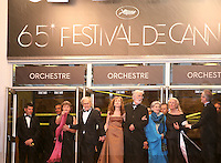 Jean-Louis Trintignant, Isabelle Huppert, director Michael Haneke, Emmanuelle Riva, Susanne Haneke,  attending the gala screening of Amour at the 65th Cannes Film Festival. Sunday 20th May 2012 in Cannes Film Festival, France.