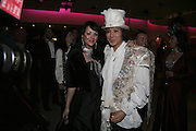 Martine McCutcheon and Andy Wong, Andy and Patti Wong's Chinese New Year of the Pig party. Madame Tussauds. ( Dress Burlesque, Debauched or Hollywood Black Tie. ) London. 27 January 2007.  -DO NOT ARCHIVE-© Copyright Photograph by Dafydd Jones. 248 Clapham Rd. London SW9 0PZ. Tel 0207 820 0771. www.dafjones.com.