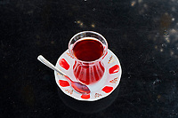 Turquie, la région de la Mer Noire, Anatolie, maison de thé dans la région de Trabzon // Turkey, the Black Sea region, tea house near Trabzon in Anatolia