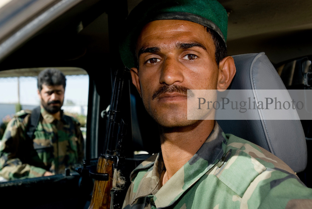 Helmand Province, Lashkargah City. Portrait of ANA soldier.