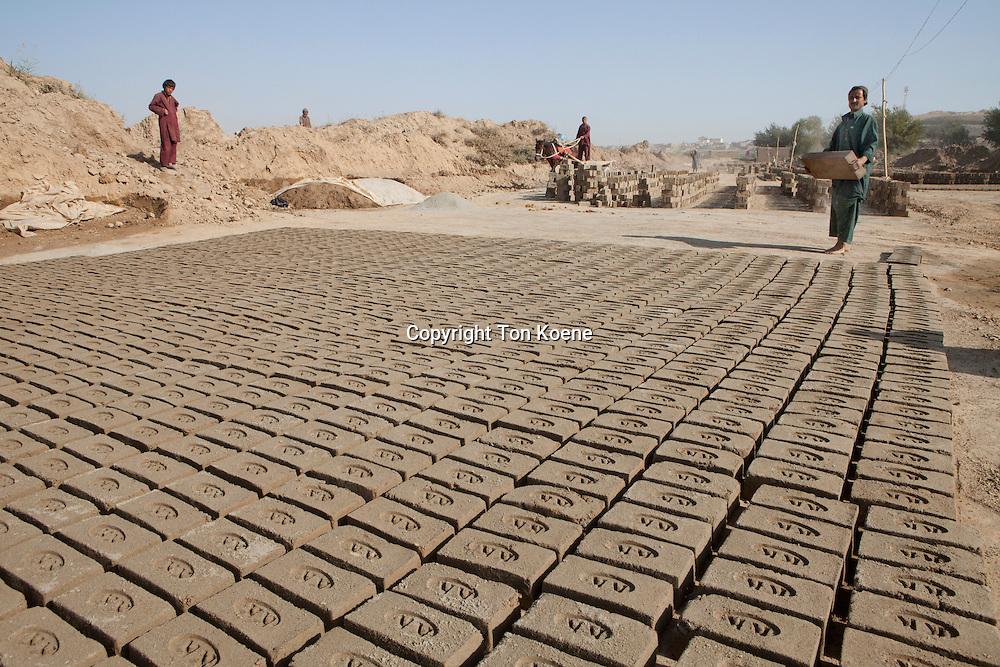 Brick factory in Kunduz, Afghanistan.