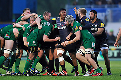 Mako Vunipola of Saracens vents his frustration after a scrum breaks up - Photo mandatory by-line: Patrick Khachfe/JMP - Mobile: 07966 386802 03/01/2015 - SPORT - RUGBY UNION - London - Allianz Park - Saracens v London Irish - Aviva Premiership