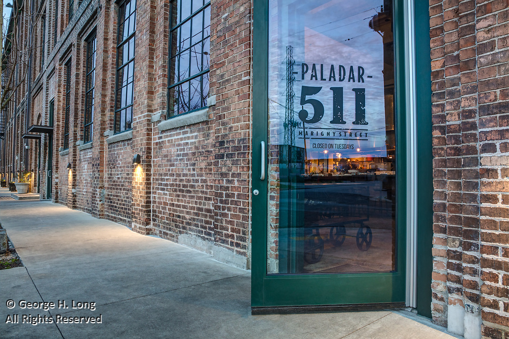 Paladar 511 restaurant at 511 Marigny Street in Faubourg Marigny neighborhood of New Orleans, Louisiana; for Studio WTA architects