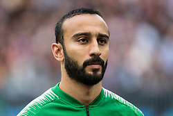 June 14, 2018 - Moscow, Russia - 180614 Mohammad Al-Sahlawi of Saudi Arabia prior the FIFA World Cup group stage match between Russia and Saudi Arabia on June 14, 2018 in Moscow..Photo: Petter Arvidson / BILDBYRN / kod PA / 92065 (Credit Image: © Petter Arvidson/Bildbyran via ZUMA Press)