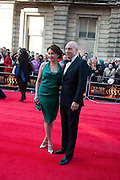 SUNNY OZELL; PATRICK STEWART, Olivier Awards 2012, Royal Opera House, Covent Garde. London.  15 April 2012.