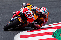 Marc Marquez of Spain and Repsol Honda Team rides during free practice for the MotoGP of Catalunya at Circuit de Catalunya on June 9, 2017 in Montmelo, Spain.(ALTERPHOTOS/Rodrigo Jimenez)
