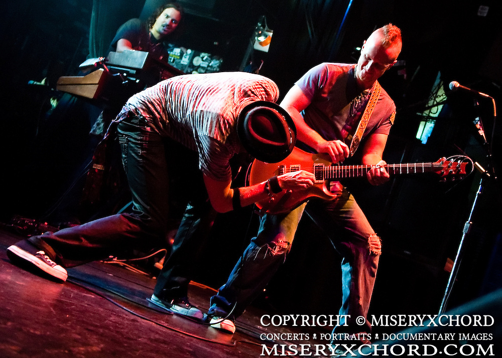 """Marty Casey (L) and Billy Sawilchik of Lovehammers perform at the West Coast record release show for their 5th studio album, """"Heavy Crown"""", at Key Club in West Hollywood, California, USA on September 25, 2009."""