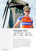 Jetse Bol, Wielerland Magazine 2013. Het eerste volledige profseizoen van Jetse Bol zit er bijna op. Een seizoen waarin de Raborenner heel veel in de schaduw reed. En dat knaagt. &lsquo;Dit is een leerzame en logische periode, maar het is niet de reden waarom ik ben gaan fietsen.&rsquo; Wielerland Magazine sprak hem tijdens een trainingsrondje door West-Friesland.<br /> <br /> TRAINEN MET Jetse Bol<br /> <br /> Tekst: kevin de vries, foto&rsquo;s: quirien de leeuw<br /> bron: Wielerland Magazine, 2012