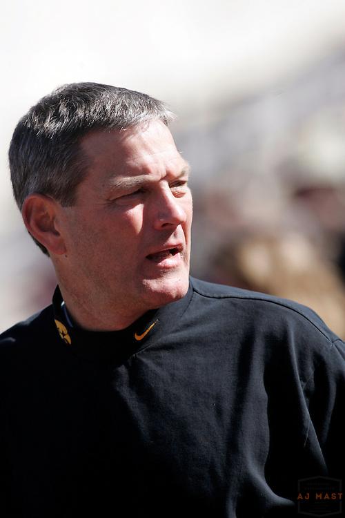 14 October 2006:Iowa head coach Kirk Ferentz as the Indiana Hoosiers beat the Iowa Hawkeyes 31-28 in college football in Bloomington, Ind.