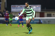 Forest Green Rovers Shamir Mullings(18) runs forward during the Vanarama National League first leg play off match between Dagenham and Redbridge and Forest Green Rovers at the London Borough of Barking and Dagenham Stadium, London, England on 4 May 2017. Photo by Shane Healey.