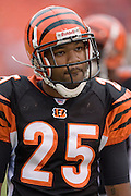 KANSAS CITY, MO - SEPTEMBER 10:  Defensive back Keiwan Ratliff #25 of the Cincinnati Bengals warms up before a game against the Kansas City Chiefs on September 10, 2006 at Arrowhead Stadium in Kansas City, Missouri.  The Bengals won 23 to 10.  (Photo by Wesley Hitt/Getty Images)***Local Caption***Keiwan Ratliff