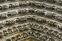 Notre Dame de Paris Last Judgment Portal detailed