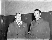 12/11/1952<br /> 11/12/1952<br /> 12 November 1952<br /> F.A.I. personalities (Waterford).<br /> Left is Sean King F.A.I., on right  is Andy Collins F.A.I.